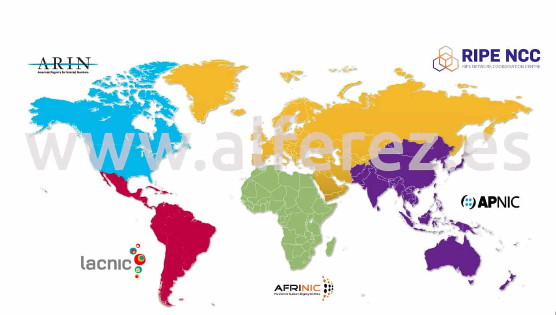 IANA Internet Geo Map
