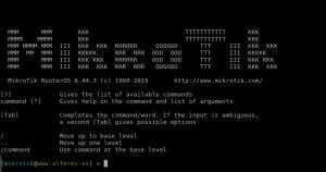 Mikrotik Console