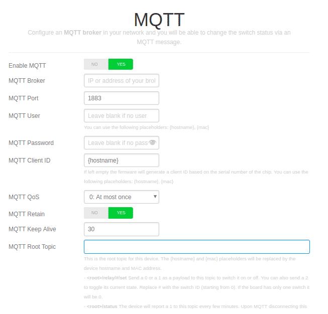 Espurna MQTT