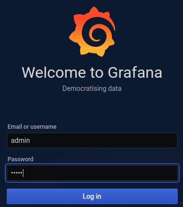Bienvenida Grafana